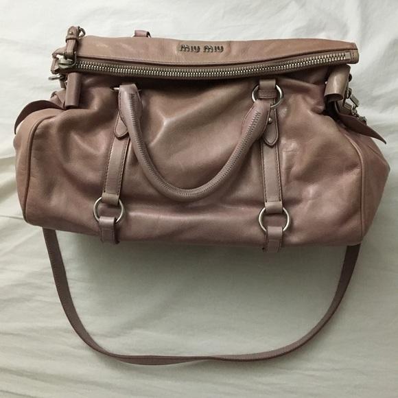 9f0c83f97591 Miu Miu Large Light Pink Vitello Bow Bag. M 5ab71eb172ea88932f7a3681